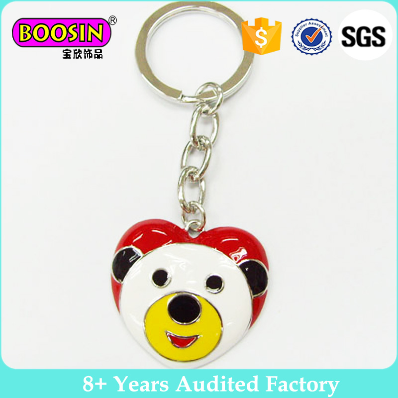 Fashion newest design rhinestone crystal lovely dog charm cartoon keychain for gift #15423