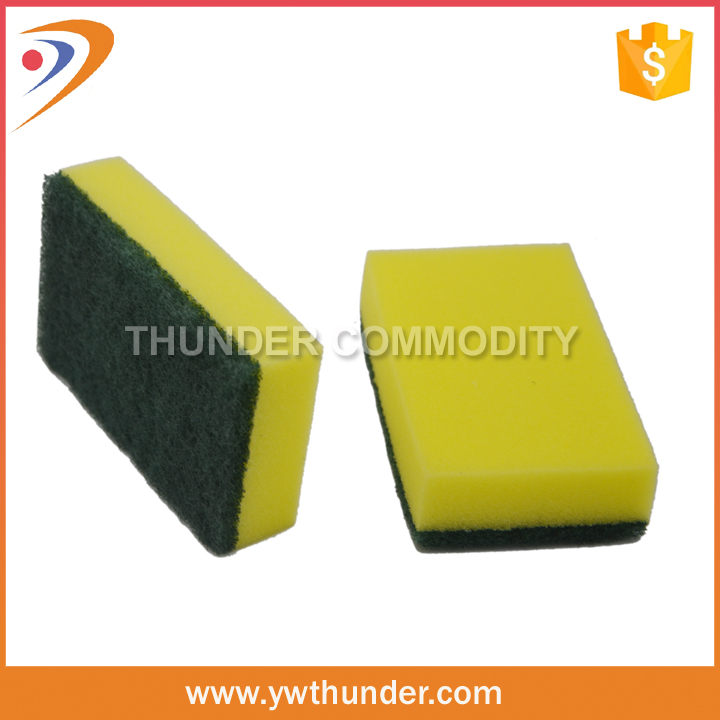 Fast Cleaning Nylon Abrasive Sponges, Kitchen Cleaning Scourer Sponge, Sponge Dish Scourer Pad