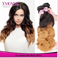 Peruvian ombre hair extension wholesale two tone color remy human hair