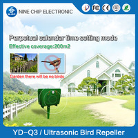 Solar powered PIR sensor Flashing Red LED light ultrasonic dog cat bird repeller