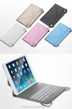 Ultra-Slim Wireless Bluetooth Keyboard With Protective Leather Case Cover For IPad Mini 2 / IPad Mini Facto