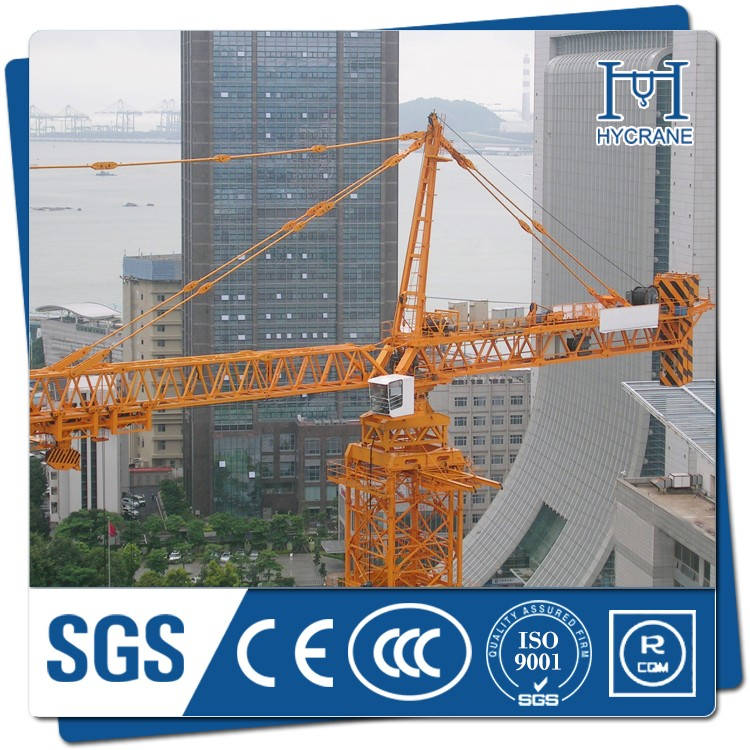 High quality 50m jib 6ton capacity tower crane mast section