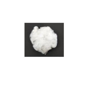 white recycled polyester stable fiber used for filling materials.