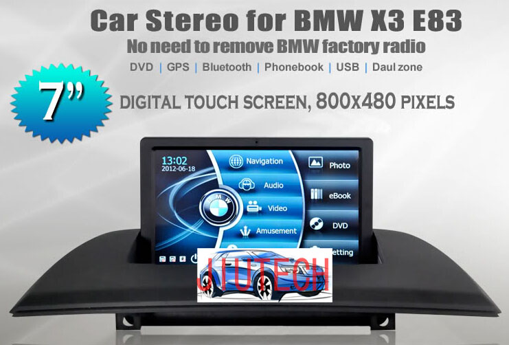 car radio for bmw x3 e83 car multimedia with gps radio bluetooth stereo multimedia DVD player