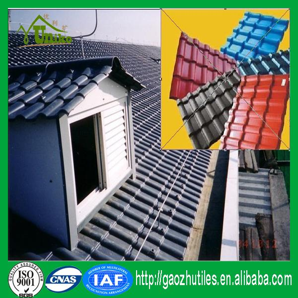 heat proof colorful ge lexan maroon roofing tiles with CE certificate