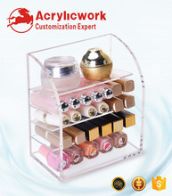 Acrylic lipstick lip pencil lip balm perfume organizer laying stack holder
