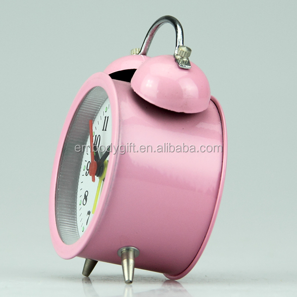 Countdown table top decorative mini metal kids study retro round alarm clock