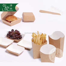 Custom printed disposable paper food box fast food serving /paper pizza trays