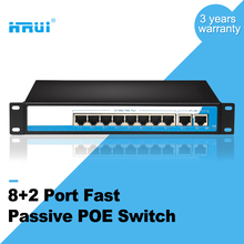 Factory price 100M 8+2 port passive poe switch for IP camera