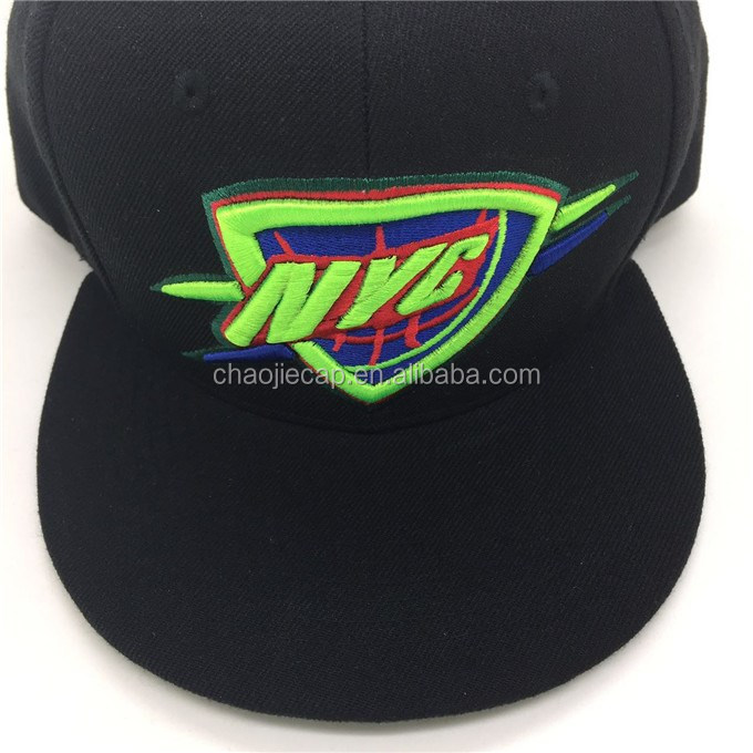 6 panel colorful 3D embroidery snapback cap