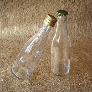 250ml Clear Beer Bottle / Spirits Liquor Glass Bottle with Screw or Crown Cap