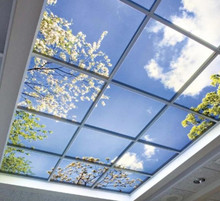 customized image 36W 600*600 artificial skylights led <strong>flat</strong> panel light