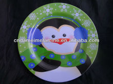 Christmas holiday dinnerware 11 inch melamine round plates