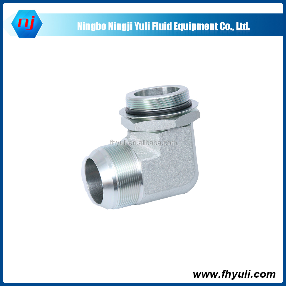 China supply Carbon steel zinc plated low price hydraulic adapters