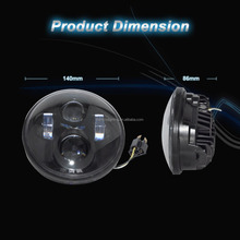 "Sanyou auto led Harley 5.75inch led headlight, chrome black 5-3/4"" LED Headlight 5.75'' Projector Daymaker Lamp"
