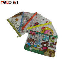 Low Price Kids A4 A5 B4 B5 size PVC Document Mesh Zipper Bag Promotional Bag
