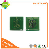 Compatible toner chip and drum chip for Lexmark W840 toner drum for lexmark chip reset