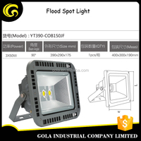 most powerfull IP65 COB 150W black color housing lighting led flood spot light led flood light