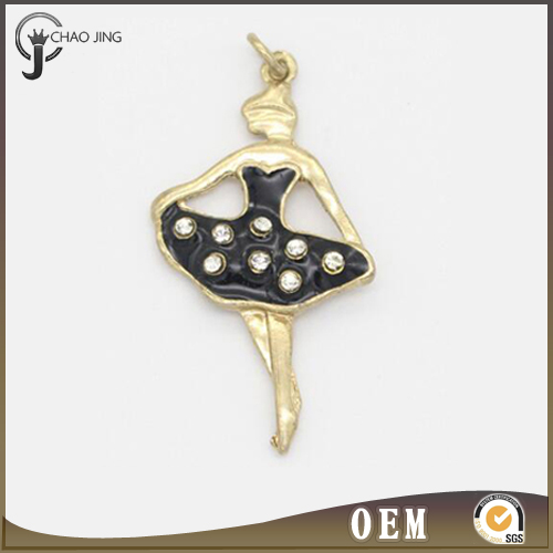 2017 New Arrival Charm Pendants Dance Girl Pendants women polished colorful necklace
