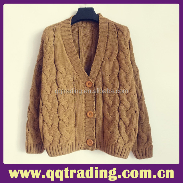 Basic plush super quality Korean style handmade women cardigan