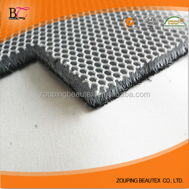 3D 100%polyester clear open mesh fabric for motoecycle seat cover
