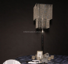 Hot wholesale wedding crystal table centerpiece flower stand decoration
