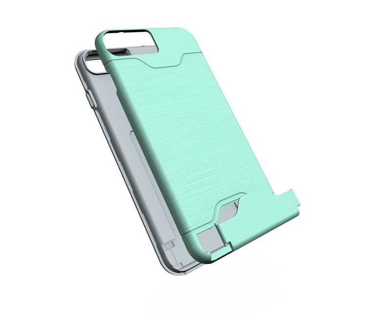 alibaba express latest 5g mobile phone case for iphone 7 plus high quality TPU+PC material 2 in 1 credit card slot case