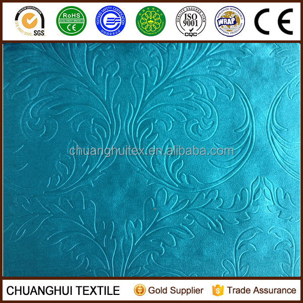 2015 new product polyester bright velvet 3D embossed thermal blackout curtains non-toxic