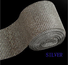 100% good quality plastic rhinestone mesh trimming factory for dress