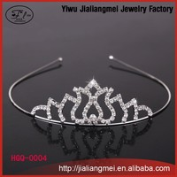 Hot Fashion Rhinestone Flower Party Crowns, Customized Crowns Wedding Tiara, Wholesale Pageant Crowns and Tiaras