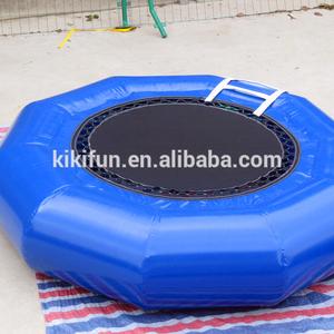 Custom commercial jumping floating for water park / cheap inflatable water blob trampoline for children with steel spring