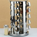 360 Degree Rotating Stainless Steel Kitchen Seasoning Rack,Rotating Spice Stand Holder Sets