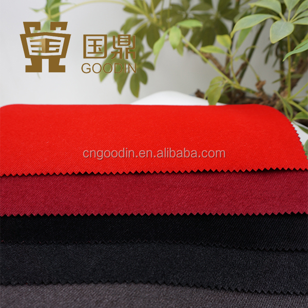 raw material textile fabric cashmere flocking with strip pattern for garment