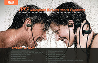 Wireless music headphone bluetooth for sport waterproof and hands free calls and music enjoy