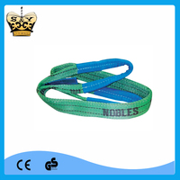 2T high-quality green double-ply polyester lifting sling/ web sling/ polyester flat webbing sling