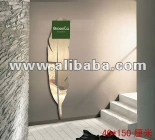 pluma moderna espejo en forma para saln o dormitorio