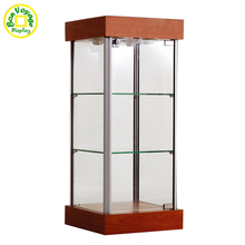 Modern design desktop wood and glass display cabinet for sunglasses