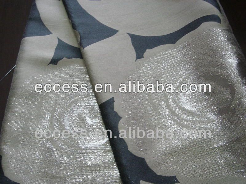 HOT SALE polyester metalic lurex jacquard fabric for curtain and chair cover