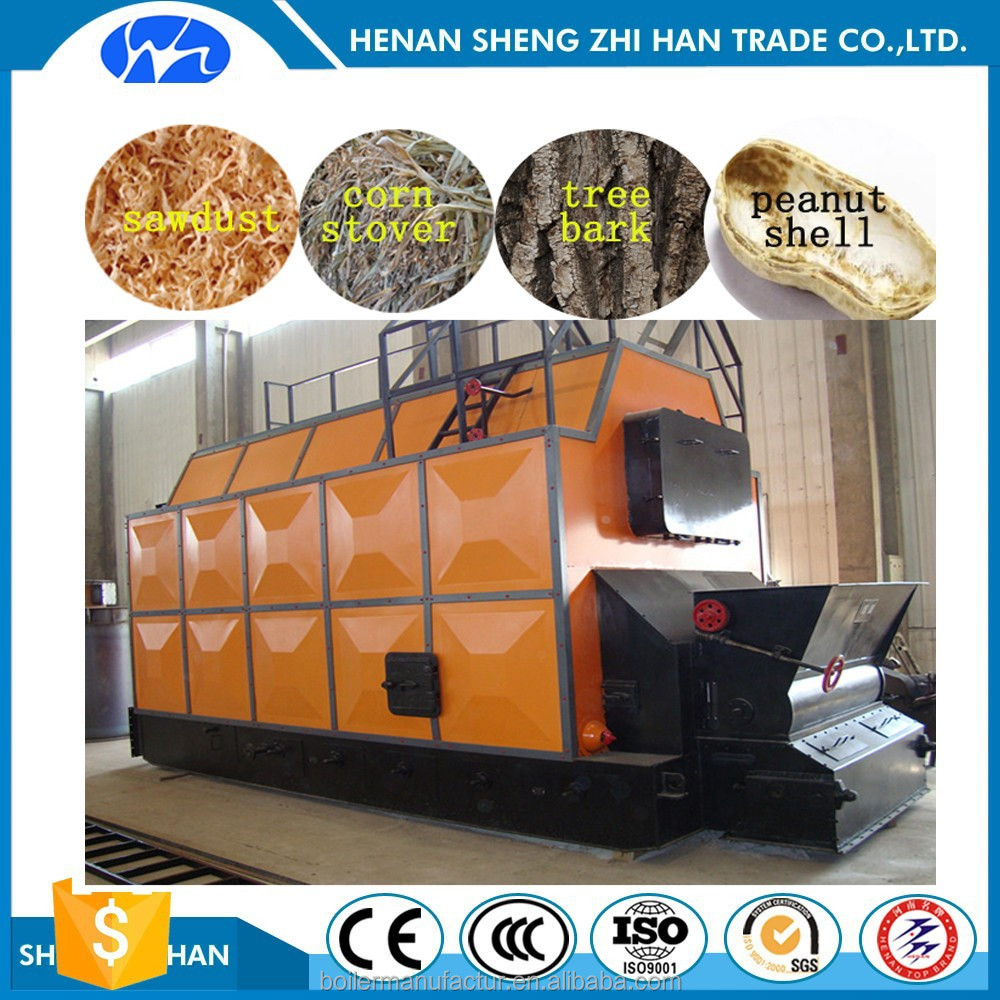 High Heating Value ,low cost Biomass Pellet fuel Steam Boiler