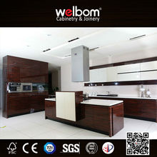 High gloss modern lacquer flat box kitchen cabinets