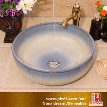 High quality handmade gradual Indigo glazed new model wash for bathroom decoration