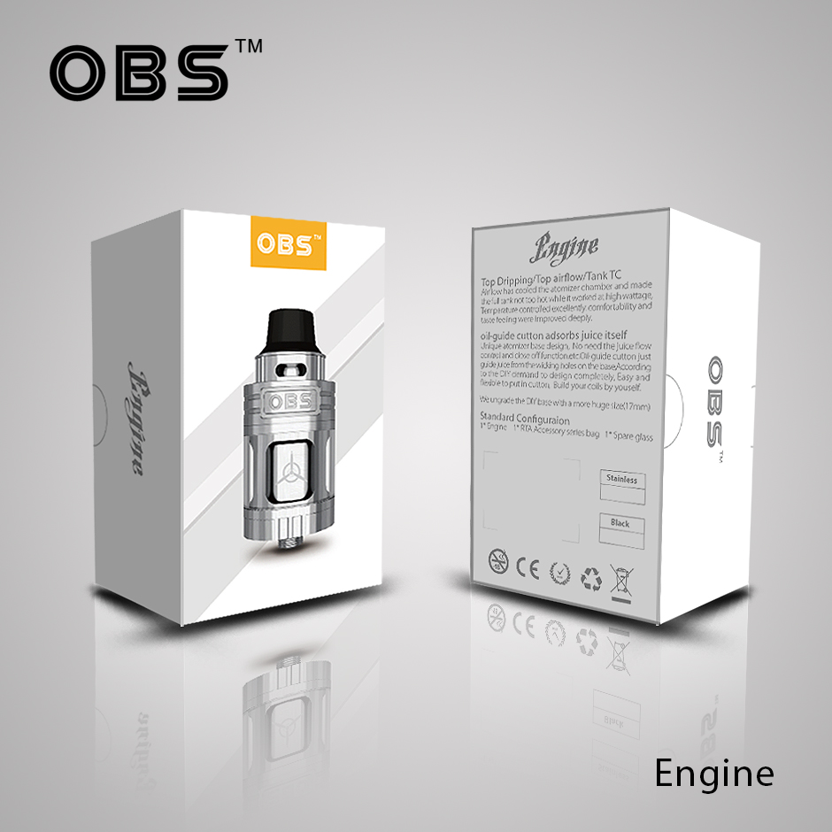 OBS New Coming Top Side Filling Vapor Starter Kits 5.2ml Engine RTA Atomizer Tank