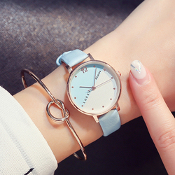 >>>New Fashion Simple Women Quartz Watches Girl Lucky Clock Ladies Wrist Watch For Gift