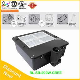 Outdoor waterproof high Brightness led shoebox light 150W led street light retrofit with UL