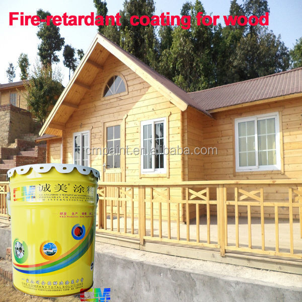 Spray liquid white color fire-resistant non flame fireproof caating coating for wood