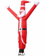 2016 cheap mini inflatable sky air dancer ,santa claus air dancer