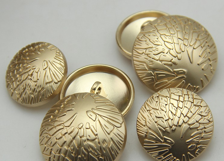 Alloy material metal sewing type coat button gold color