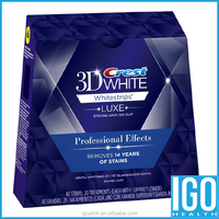Crest 3D White Luxe Whitestrips Professional Effects White Teeth Whitening 1 box 20 pouches 40 strips crest whitening strips