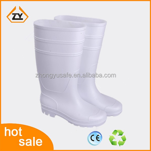hot sale factory price cheap white rain boots food industrial gumboots shoes