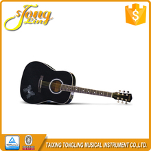 [TL-0046] 41 Inch Black Acoustic Guitar And Bass Guitar For Sale With Guitar Kit